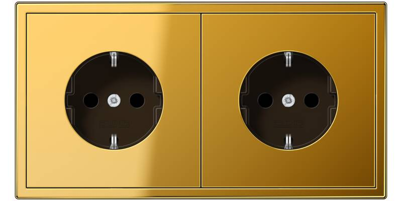 JUNG_LS990_gold-coloured_socket-socket_H