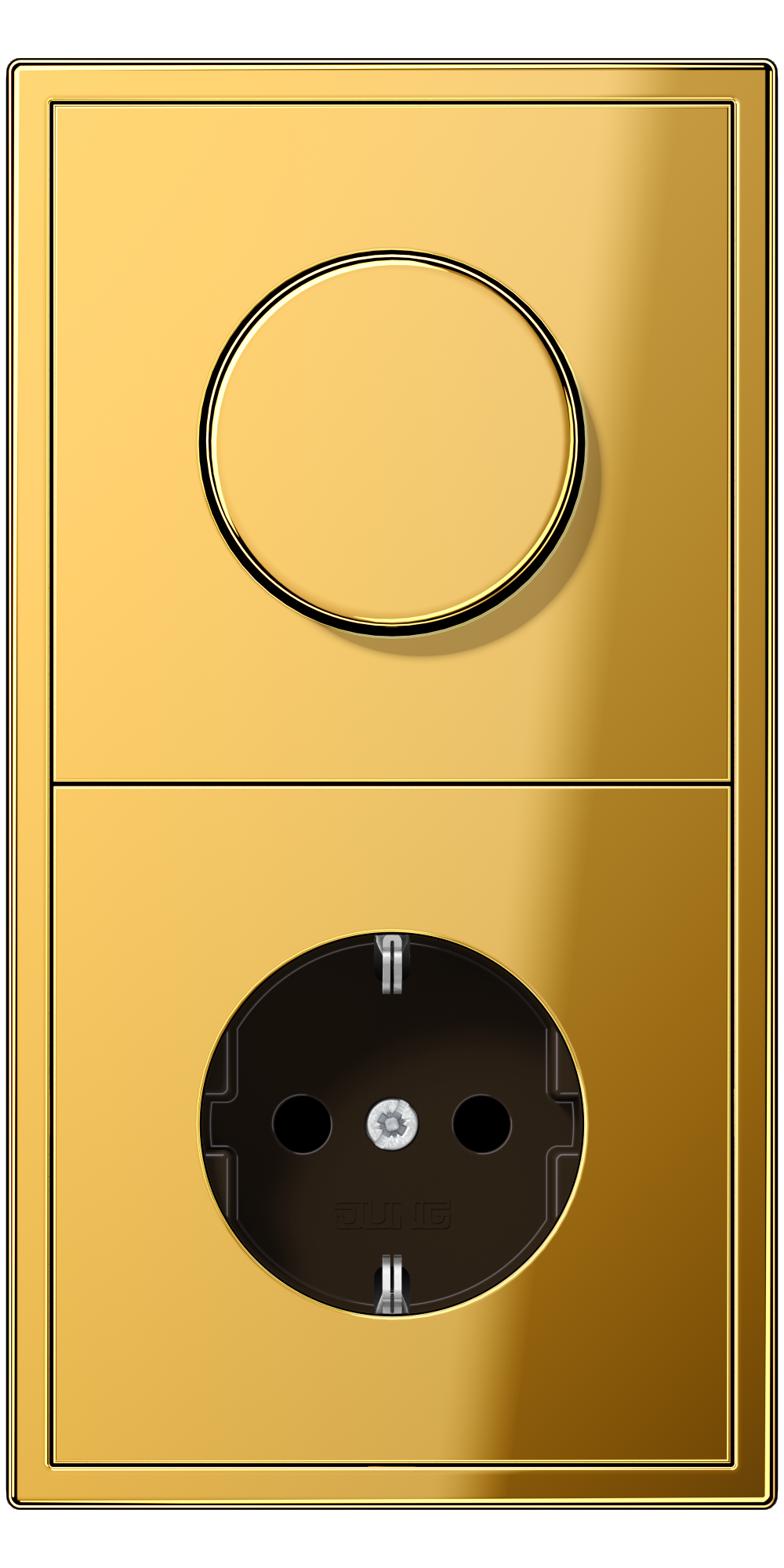 JUNG_LS990_gold-coloured_dimmer-socket