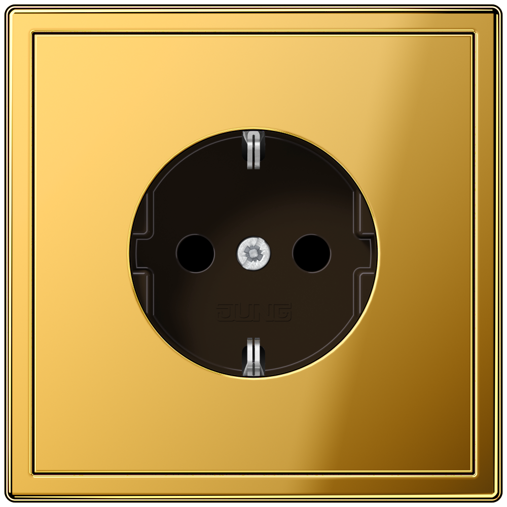 JUNG_LS990_gold-coloured_socket