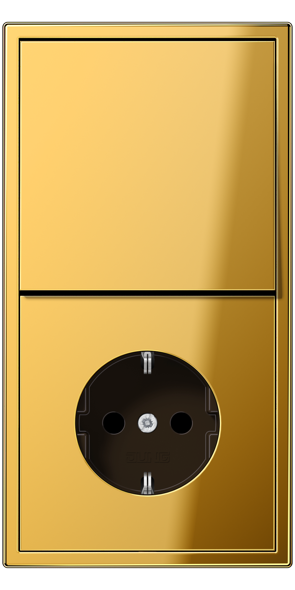 JUNG_LS990_gold-coloured_switch_socket
