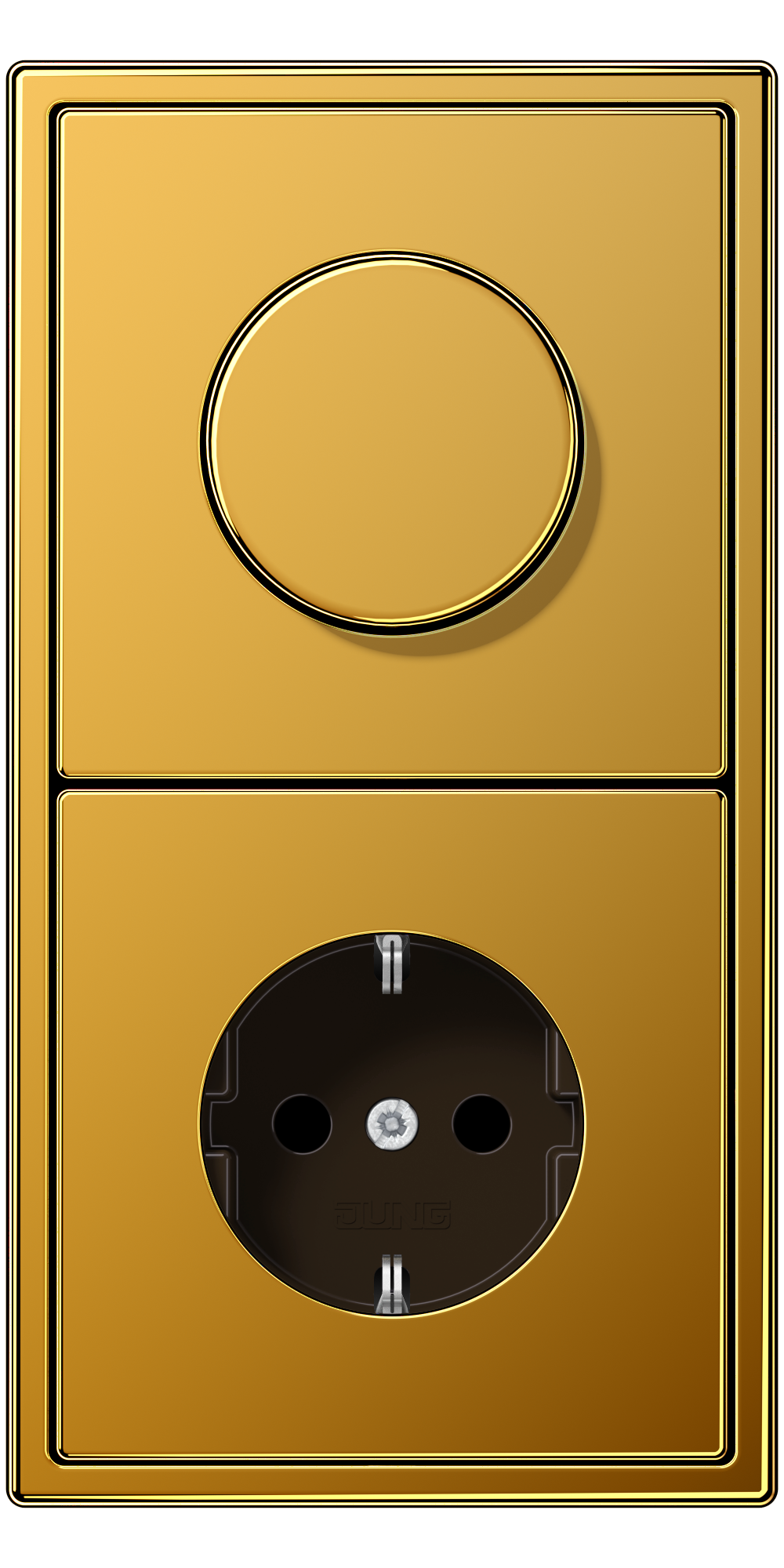 JUNG_LS990_gold-24-carat_dimmer-socket