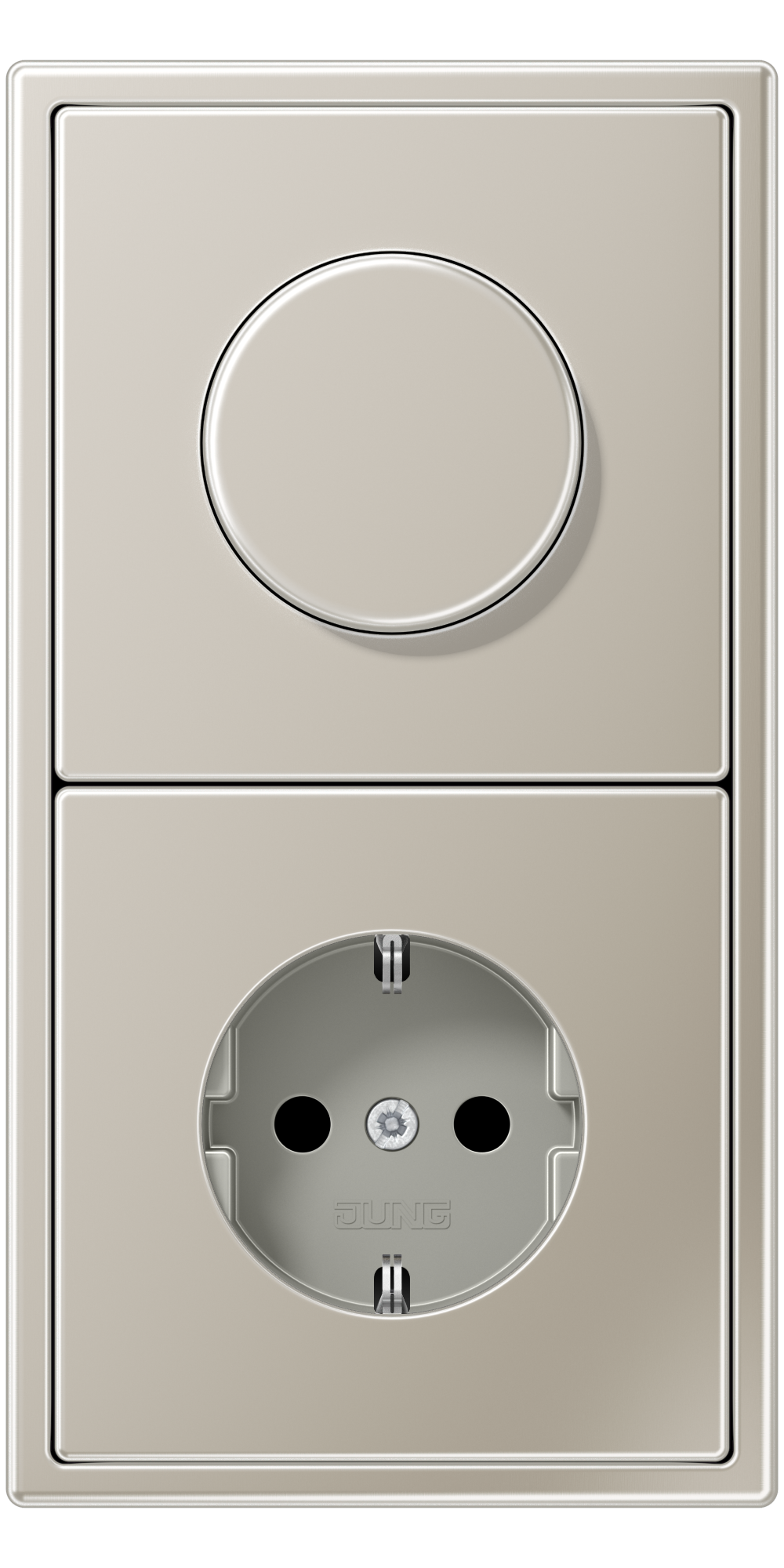 JUNG_LS990_stainless_steel_dimmer-socket