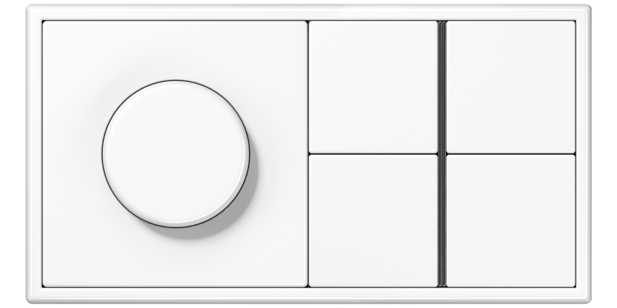 JUNG_LS990_white_dimmer_4button