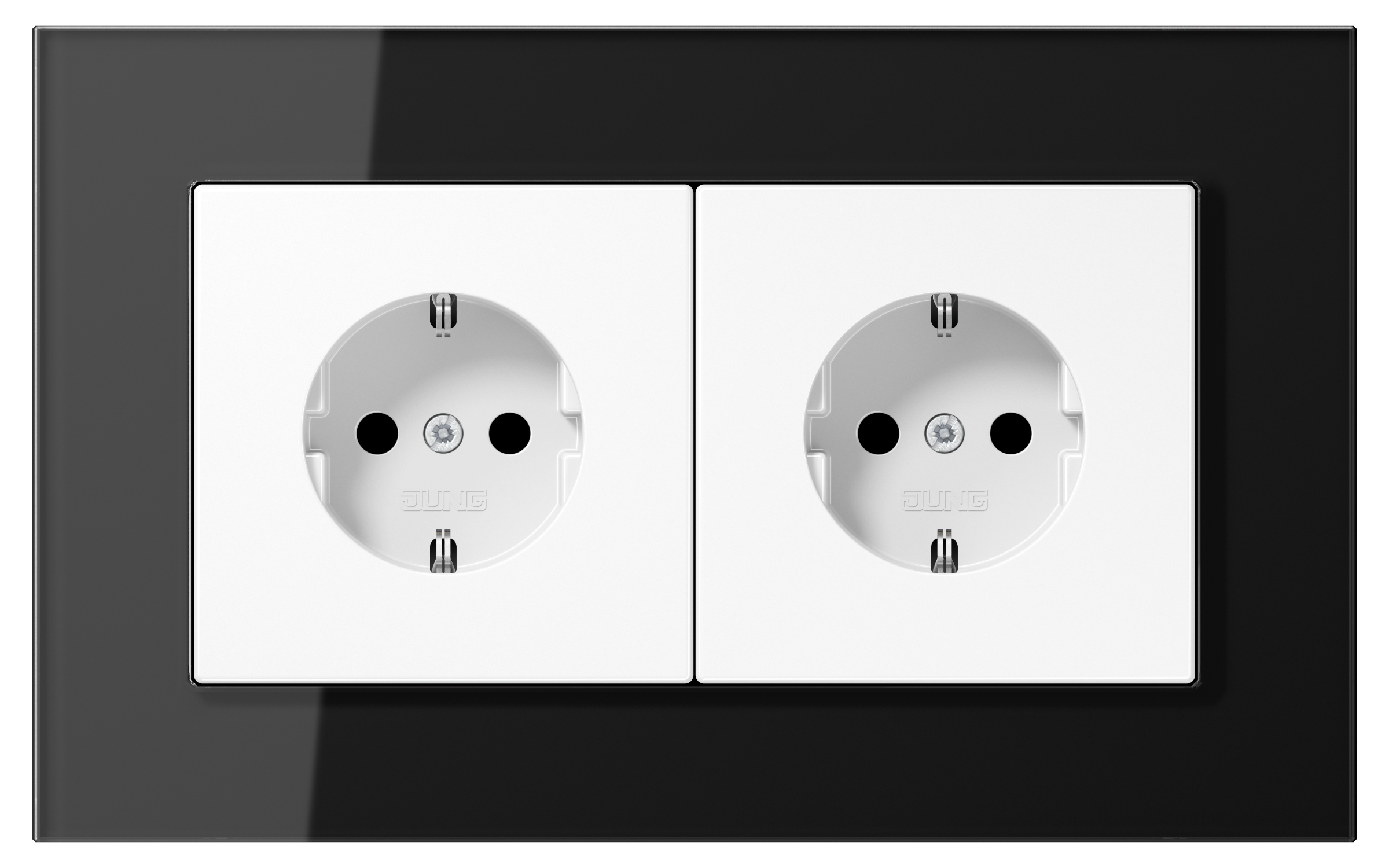 JUNG_LSPlus_GL_black_white_socket-socket_H