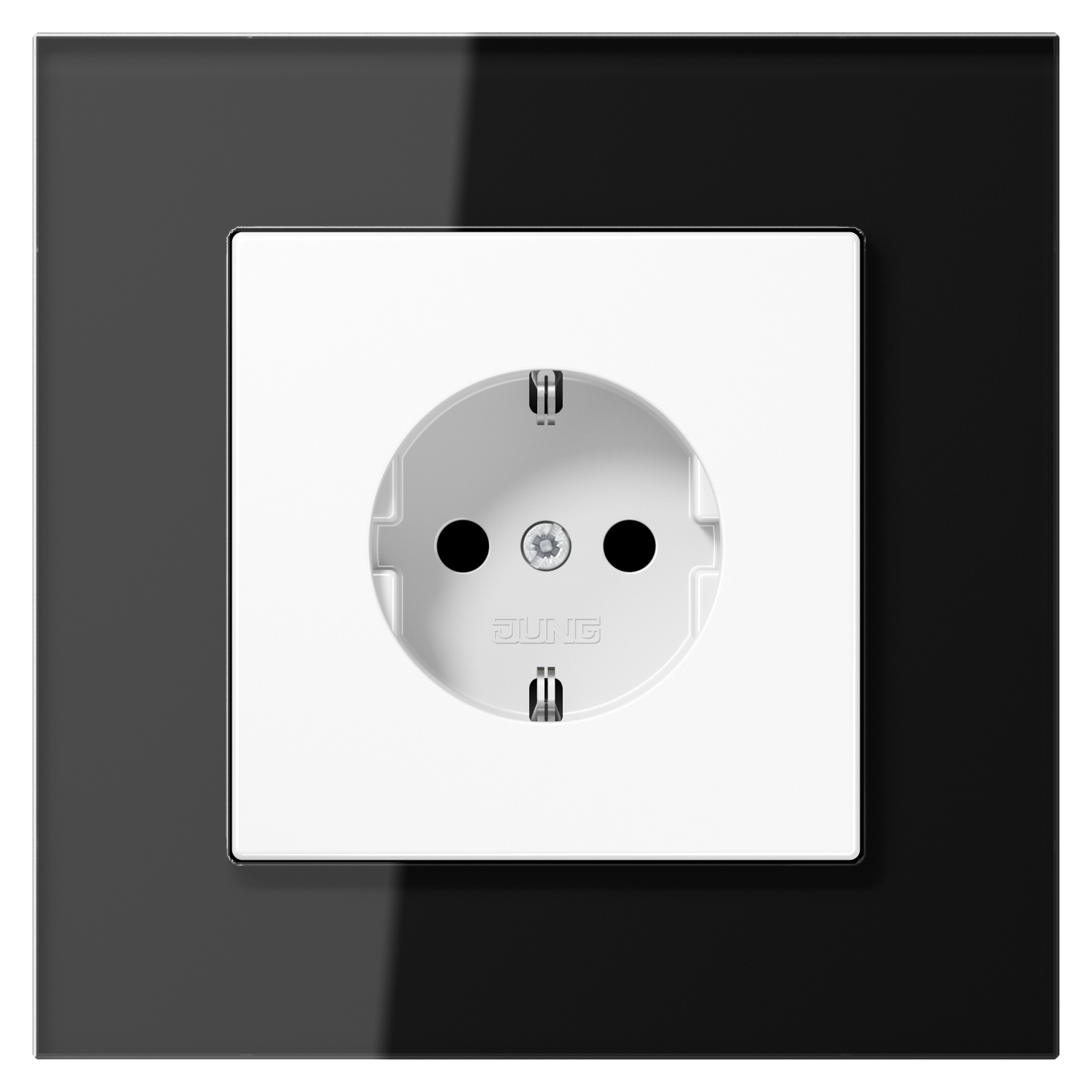 JUNG_LS_plus_GL_black_white_socket