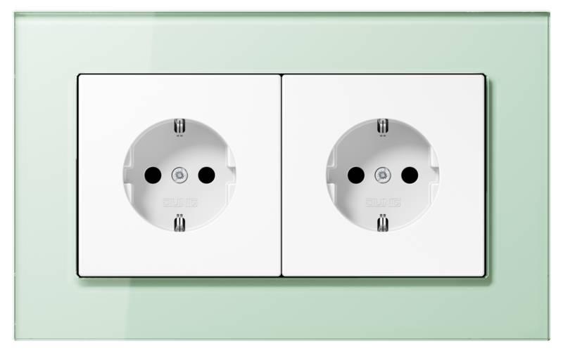 JUNG_LSPlus_GL_soft-white_white_socket-socket_H