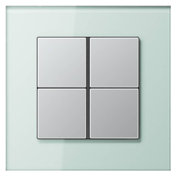 JUNG_LS_plus_GL_soft-white_aluminium_4button