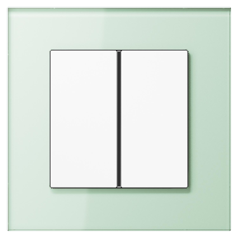 JUNG_LSPlus_GL_soft-white_white_1button
