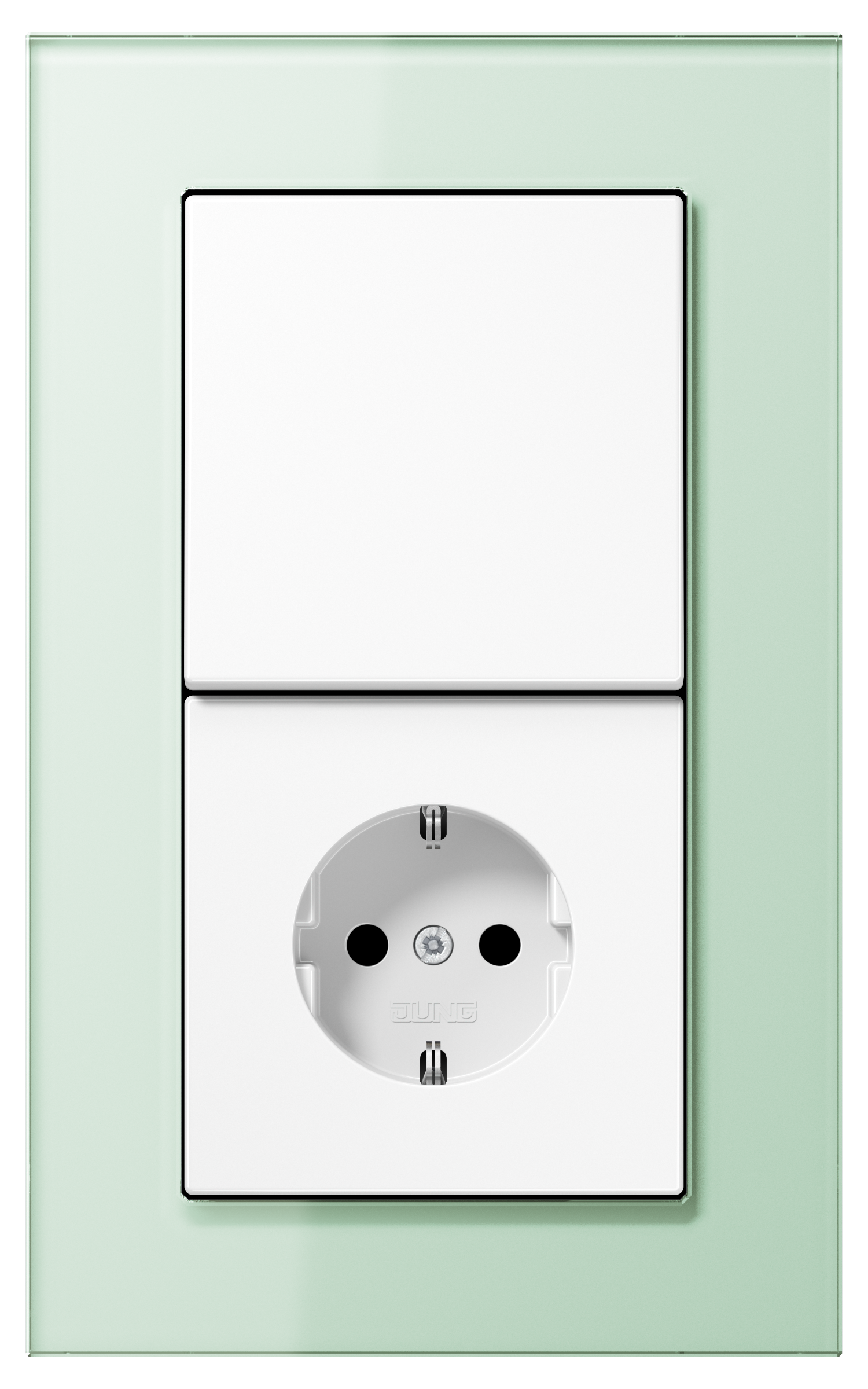 JUNG_LS_plus_GL_soft-white_white_switch_socket