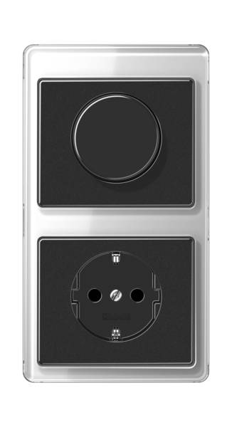 JUNG_SL500_silver-black_dimmer-socket