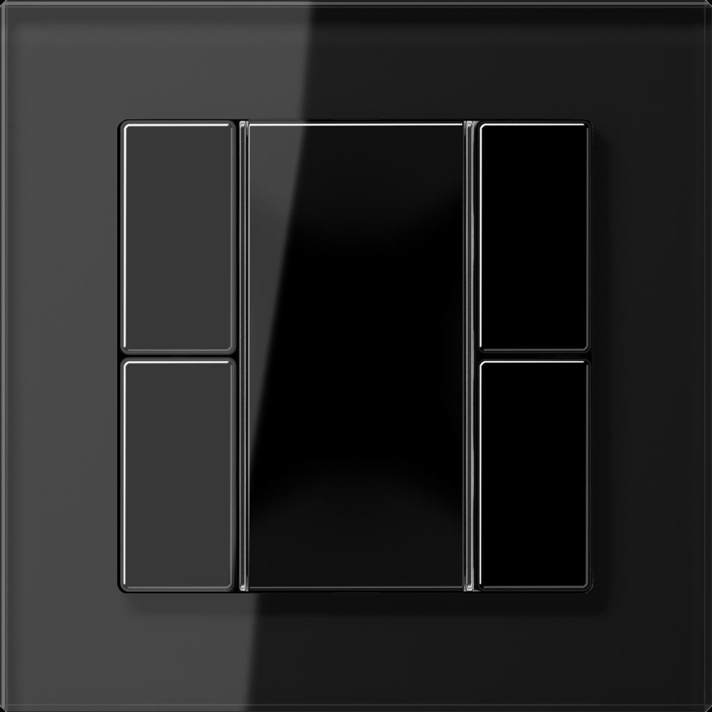 JUNG_AC_GL_black_coloured_F50_2-gang