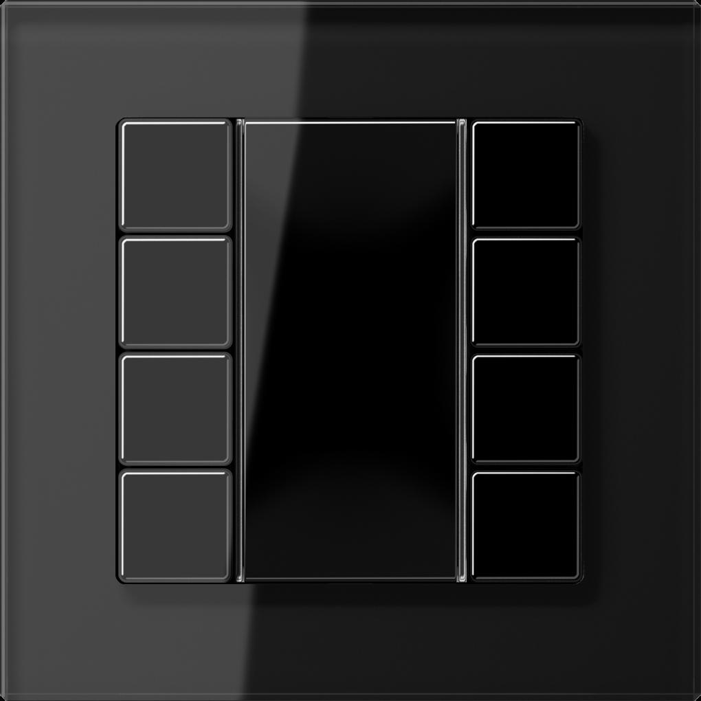 JUNG_AC_GL_black_coloured_F50_4-gang