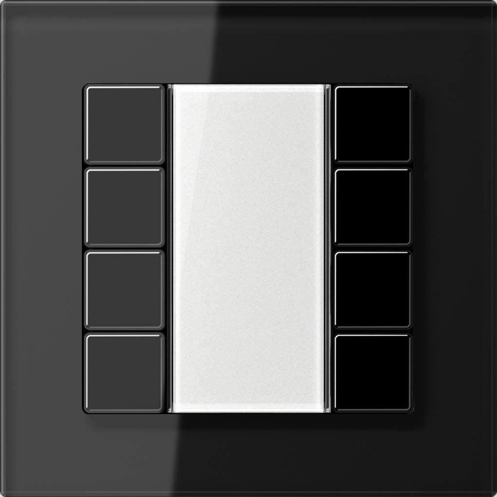 JUNG_AC_GL_black_transparent_F50_4-gang