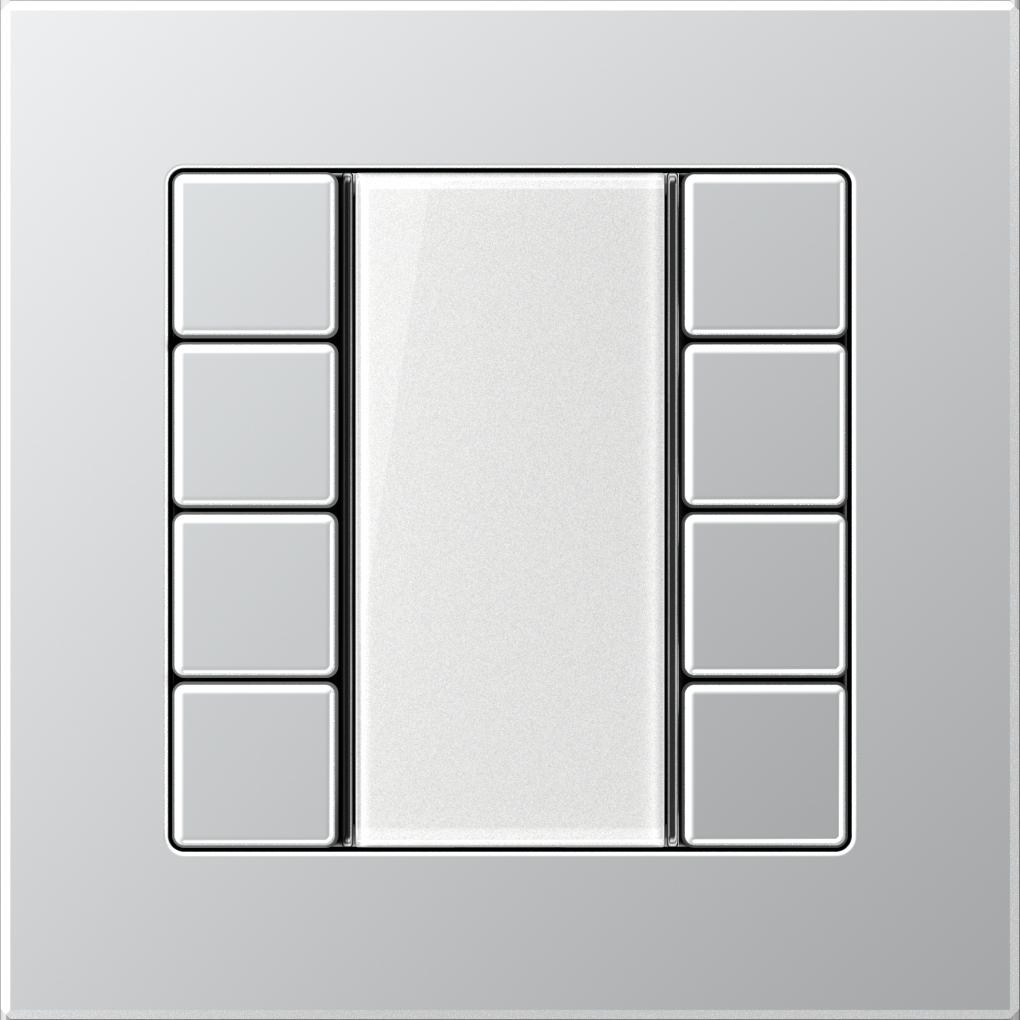 JUNG_AC_aluminium_transparent_F50_4-gang