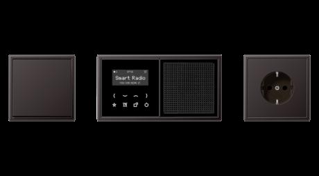 Elektriker, Berlin, Schalterklassiker LS990, Aluminium, Elektroinstallation, Rahmen, Abdeckungen, Jung Schalterprogramm