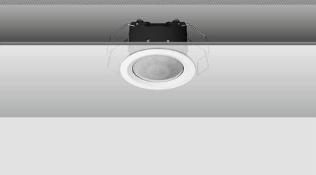 The Most Discreet Installation Type Is Definitely The Clamp Assembly In A  False Ceiling. The Spring Clips Ensure Fastness, And Only The Lens And The  Narrow ...