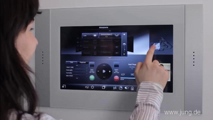 jung knx smart displays knx system technology. Black Bedroom Furniture Sets. Home Design Ideas