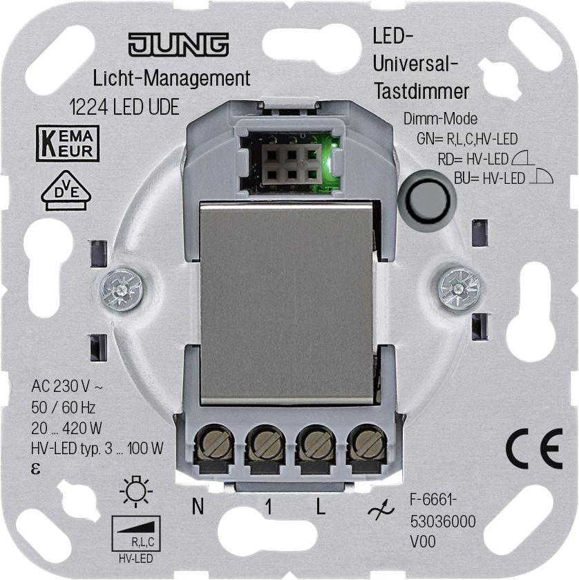 JUNG - LED-Universal-Tastdimmer Beleuchtungssteuerung Technik