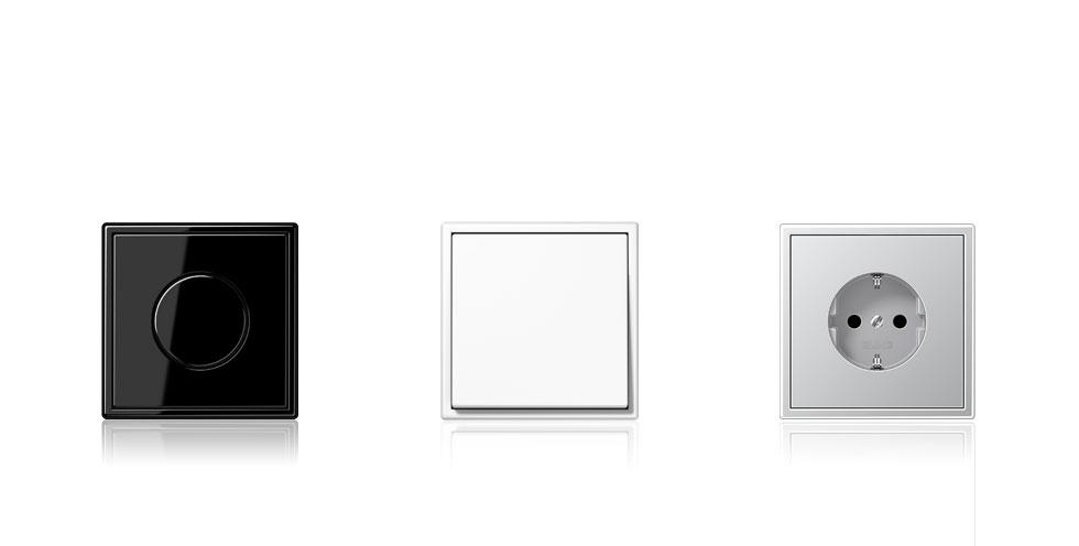 jung ls 990 in plastic design. Black Bedroom Furniture Sets. Home Design Ideas